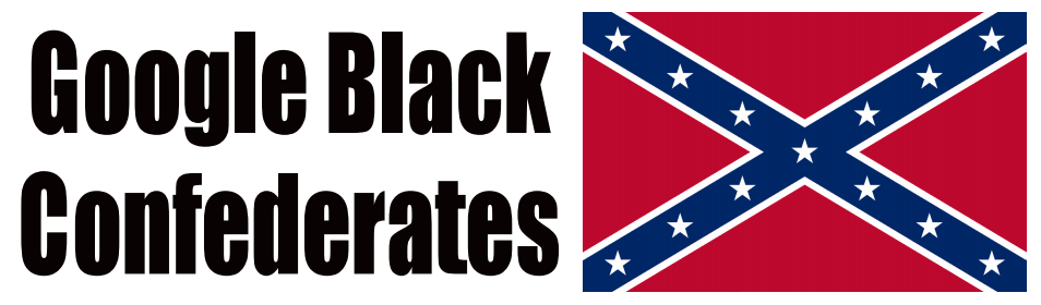 Google Black Confederates Sticker