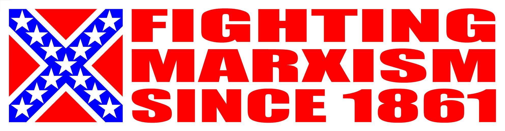 Fighting Marxism Sticker