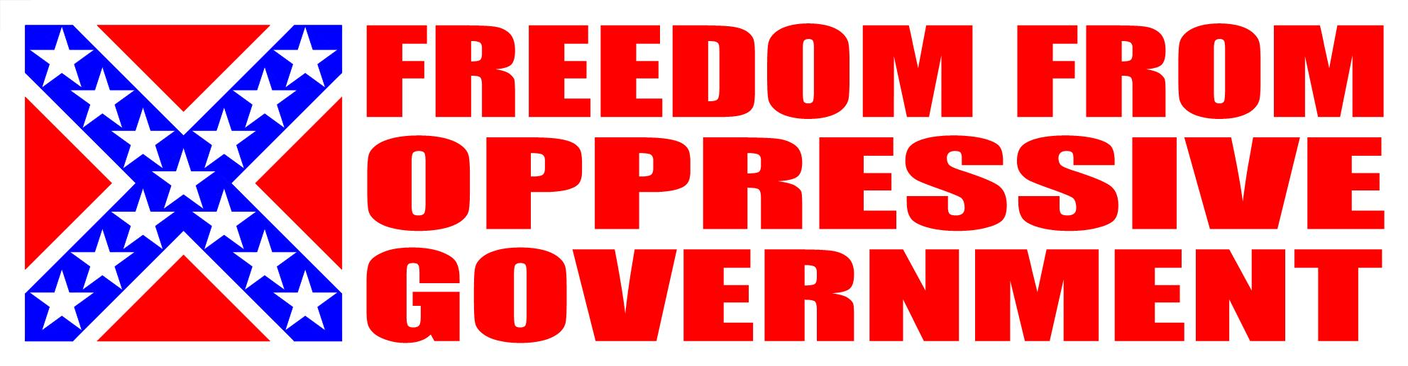 Freedom From Oppressive Government Sticker